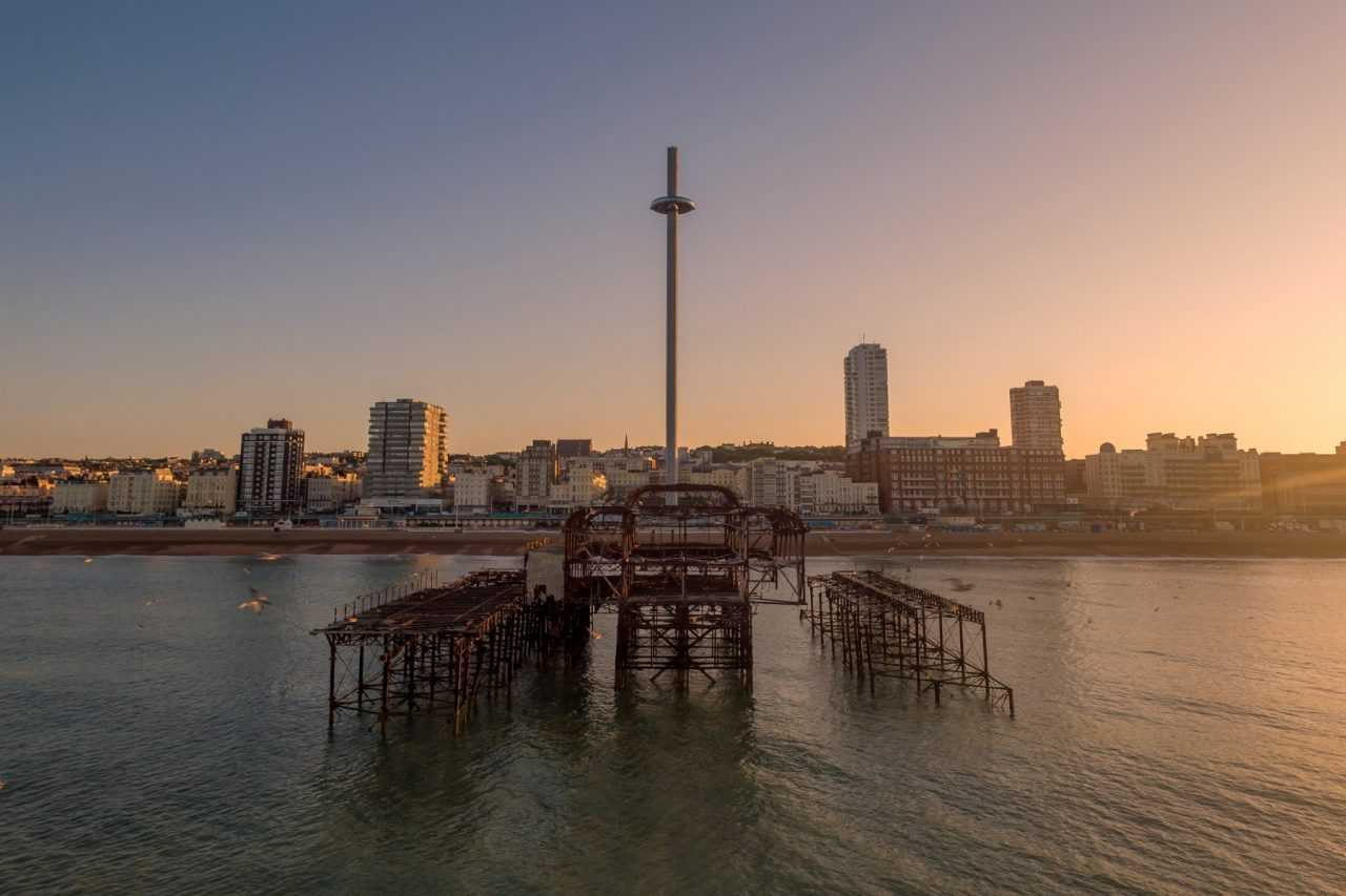 British Airways i360 Sunrise Drone Photography